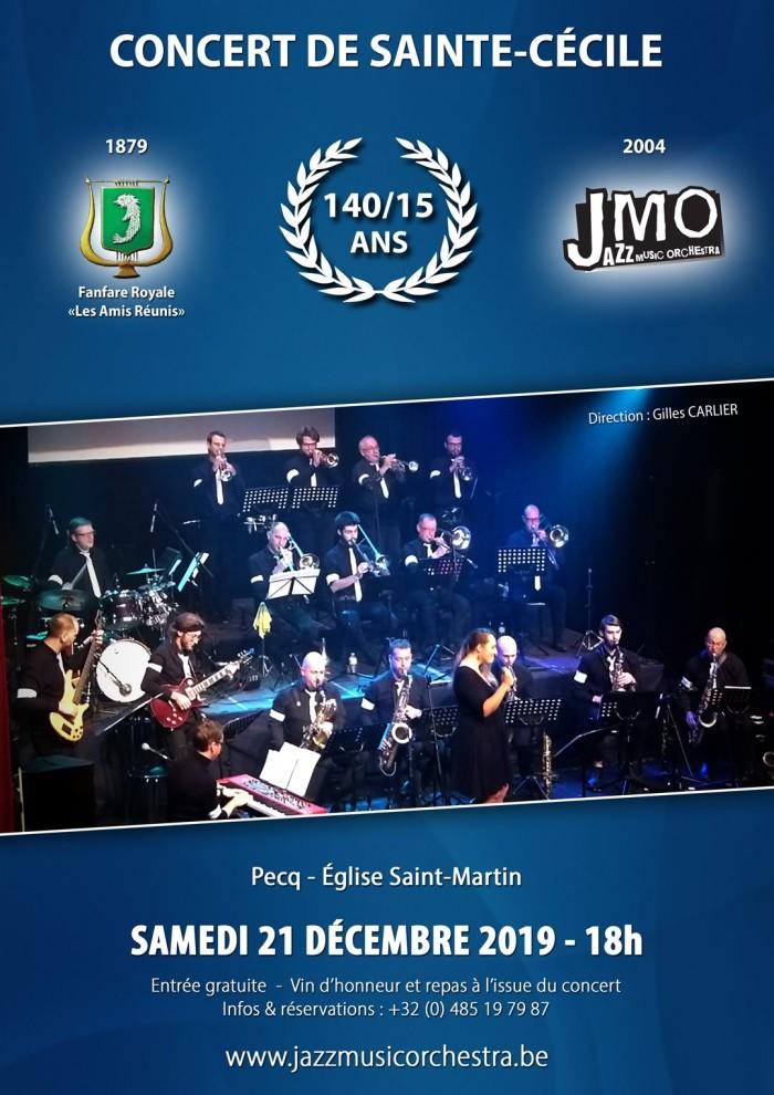 """Concert de Sainte-Cécile """"140/15 ANS !"""" @ Eglise St Martin, Pecq"""